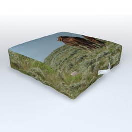 Wyoming Wild_Horses - I Outdoor Floor Cushion