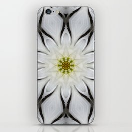 White Flower Design iPhone Skin