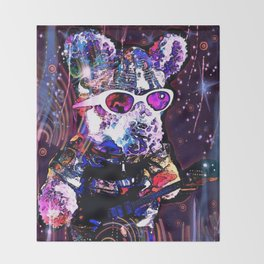 """""""Pinky the Pig's Guitar Solo in Space"""" Throw Blanket"""