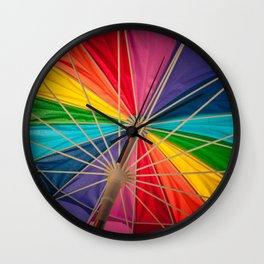 Summer Time - Beach Umbrella Wall Clock