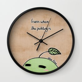 Pikmin Pudding - Where is the Pudding? Wall Clock