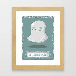 Ghost Boss Framed Art Print