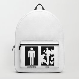 Others vs. Me (man) - farm animals Backpack
