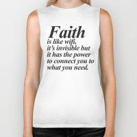 faith Biker Tanks featuring Faith. by Sara Eshak