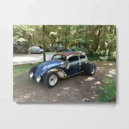 Rat Rod custom car photoart Metal Print