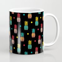 pineapples Mugs featuring Pineapples! by Rendra Sy