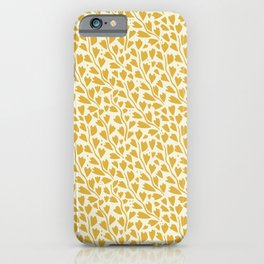 Winter Solstice Vines in Golden Yellow | Pattern Collection  iPhone Case