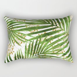 Leaf on ornamental gold pattern Rectangular Pillow