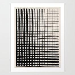 Horizontal & Vertical Lines Art Print