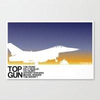 top gun Canvas Prints featuring Top Gun by booj