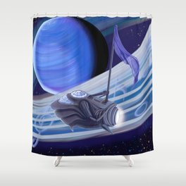 Through Space and Sound Shower Curtain