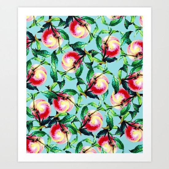 Peachy #society6 #decor #buyart Art Print