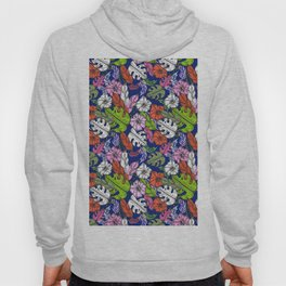 Bright tropical flowers - pattern no 1 Hoody