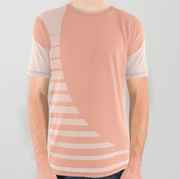cdd2c61c3 The Sweet Life Collection - Peach Coral Sun Gradient All Over Graphic Tee