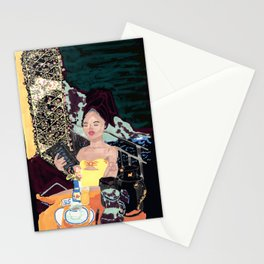 Lady with a view Stationery Cards