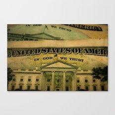 money in God we trust Canvas Print