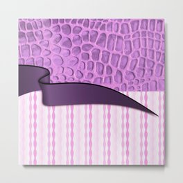 2in1 Pattern Serena purple Metal Print
