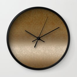 Golden gradient ornament background Wall Clock
