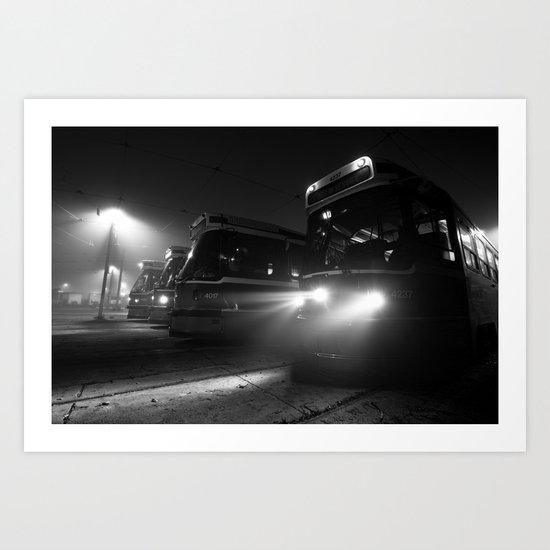 The Connaught Streetcar Yard - Toronto Art Print