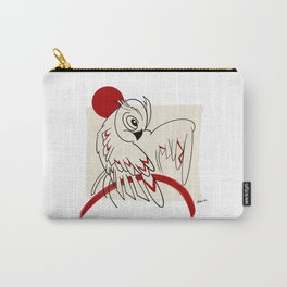 Samurai Owl with red dot  Carry-All Pouch
