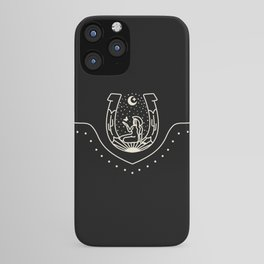 Good Fortune Gal - Black & White iPhone Case