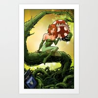 poison ivy Art Prints featuring Poison Ivy by Andrew Sebastian Kwan