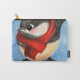 Winter Bird Watercolor Illustration Carry-All Pouch