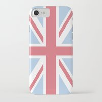 union jack iPhone & iPod Cases featuring Union Jack by Alesia D