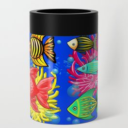Fish Cute Colorful Doodles Can Cooler