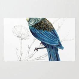 Tui, New Zealand native bird Rug