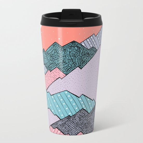 Mountain Tones Metal Travel Mug