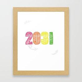 Funny Class Of 2032 Shirt For Kindergarten Future Graduate Framed Art Print