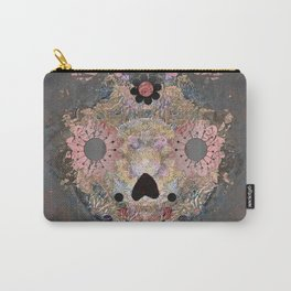 Gothic Boho Floral Sugar Skull Stamp Print #4 Carry-All Pouch