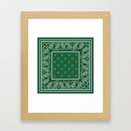 Classic Green Bandana Framed Art Print