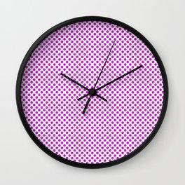 Dazzling Violet Polka Dots Wall Clock