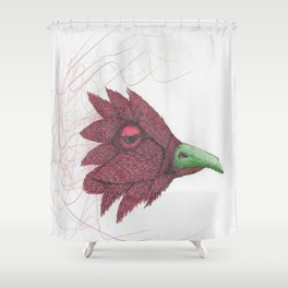 Bird of feathers Shower Curtain