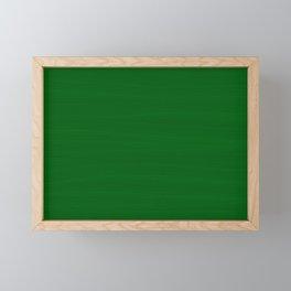 Emerald Green Brush Texture - Solid Color Framed Mini Art Print