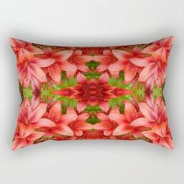 """A Gathering of Lilies"" Remix - 5 (4-1) [D4471~15] Rectangular Pillow"