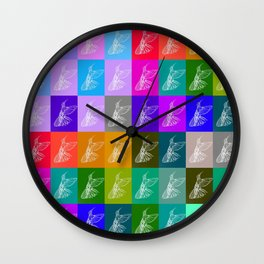 Rainbow Hummingbirds Wall Clock
