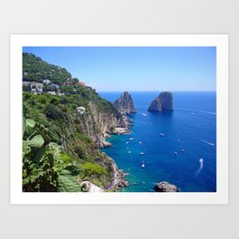 Isle of Capri Coastline Art Print