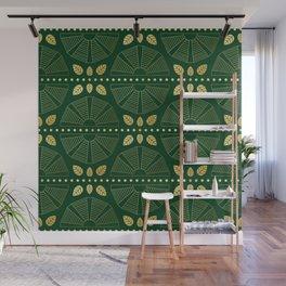 Emerald Art Deco Fan Wall Mural