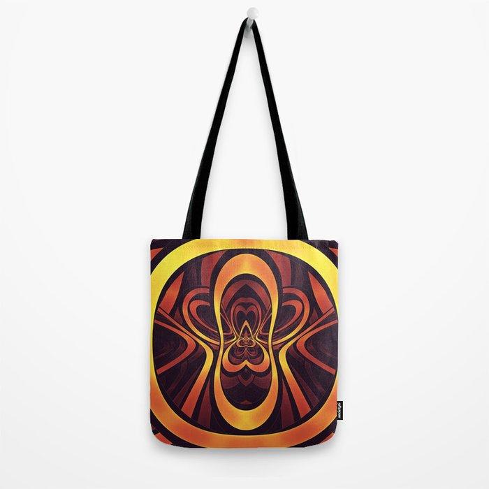 Golden Tribal Logo for a Space Monkey Named Winston Tote Bag
