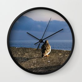 Sandpiper Coastal Bird Sea View Seascape Wall Clock