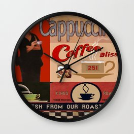 Vintage poster - Cappuccino Wall Clock