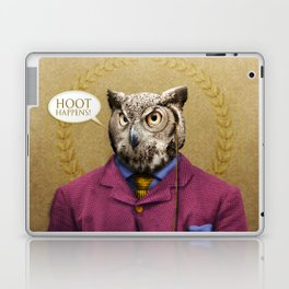 "Mr. Owl says: ""HOOT Happens!"" Laptop & iPad Skin"