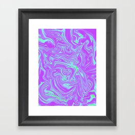 Dance of green and purple Framed Art Print