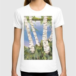 Four Birch on the Lake T-shirt