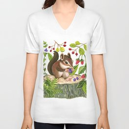 Berry Loving Chippy Unisex V-Neck