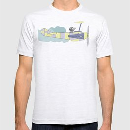 Dog air-cloud pilot. Joy in the clouds collection T-shirt