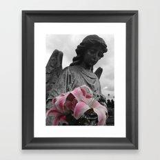 Angel Holding Flowers #2 Framed Art Print